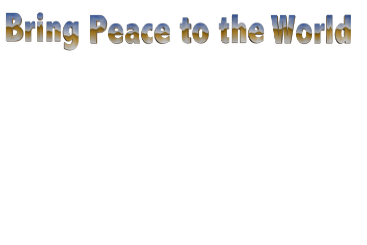 BVring Peace to the World